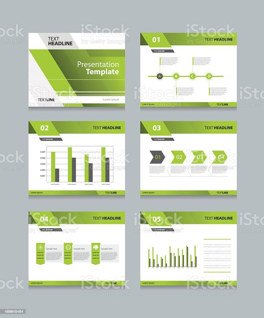 business presentation and powerpoint template slides background design vector art illustration