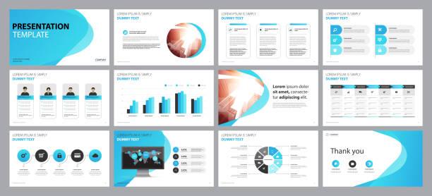 Business Präsentation Hintergründe Design-Vorlage und Seitenlayout-Design für Broschüre, Buch, Magazin, Geschäftsbericht und Firmenprofil, mit Info-Grafik-Elemente Graph Design Konzept – Vektorgrafik