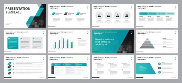 Business-Präsentation Hintergründe Designvorlage mit Infografik Timeline Elements DesignKonzept – Vektorgrafik