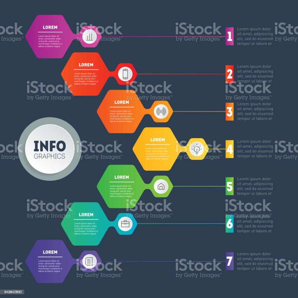Ilustración de Concepto De Presentación De Negocio O Infografías Con ...