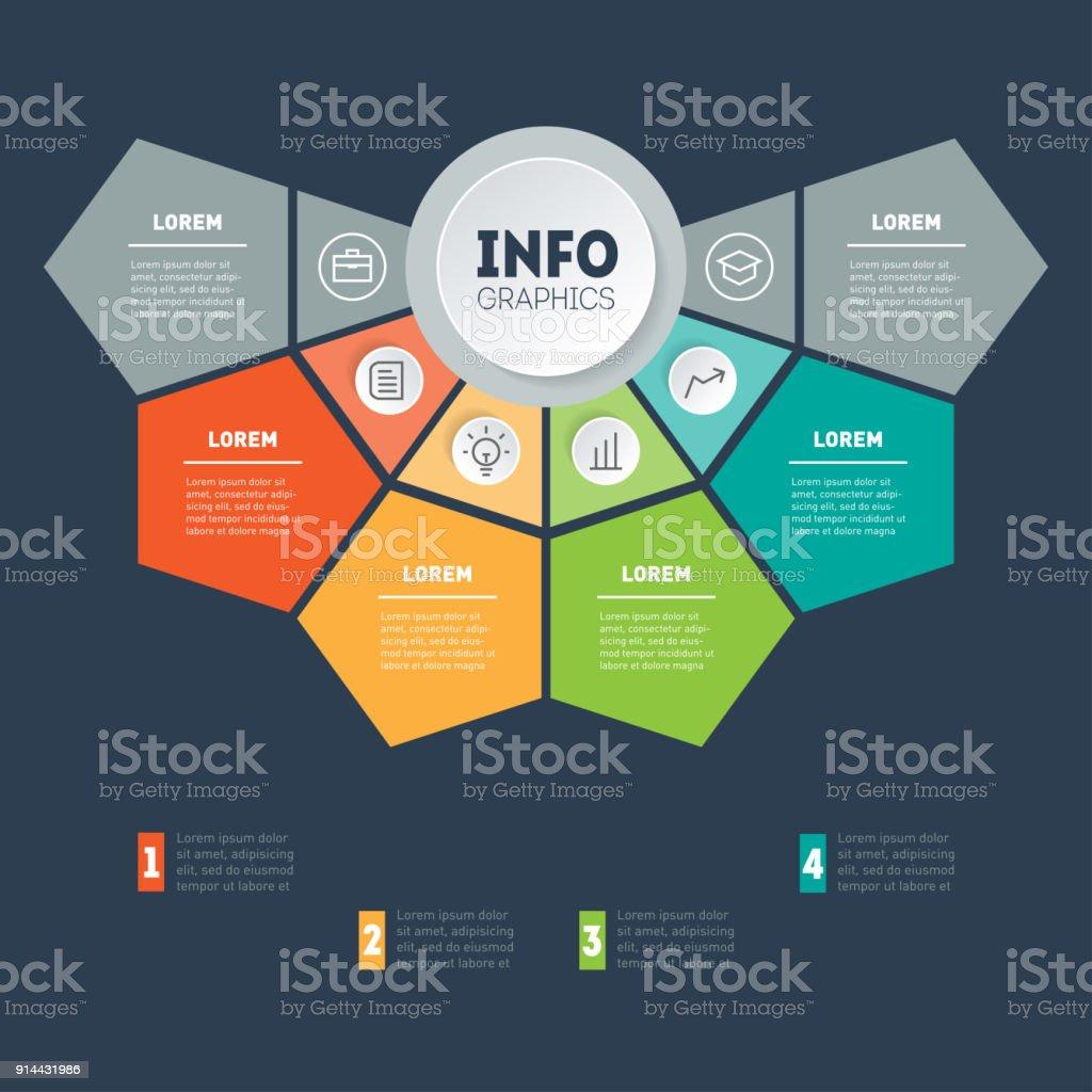 Concepto De Presentación De Negocio Con 4 Opciones Plantilla Web De ...