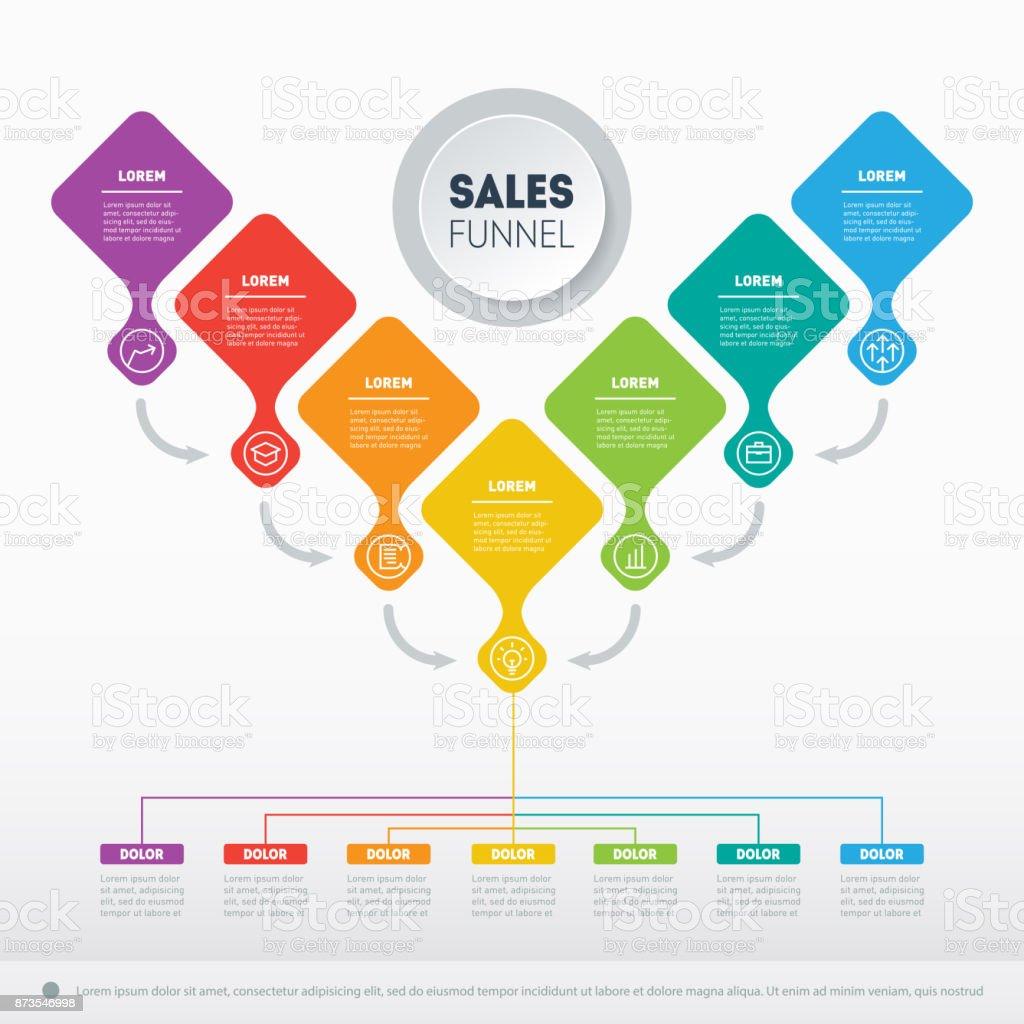 Concepto De Presentación De Negocio Con 7 Opciones Web Plantilla De ...