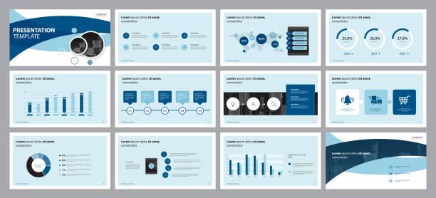 Business-Präsentationsdesign-Vorlage und Seitenlayout-Design für Broschüre, Jahresbericht mit Info-Grafikelemente-Designkonzept – Vektorgrafik