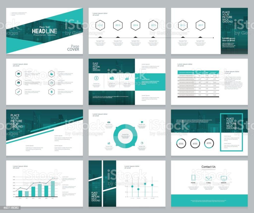Business Präsentation Design Vorlagen Und Seitenlayout Mit ...