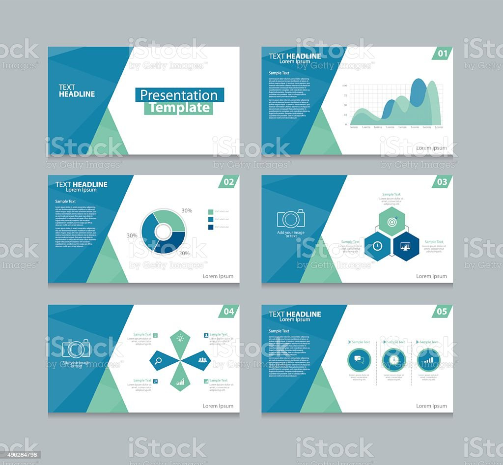 business presentation design template two color stock
