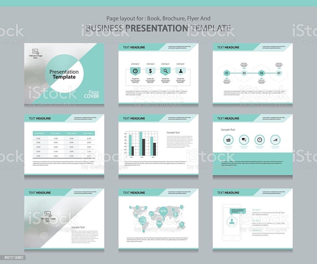 Designvorlage Business Präsentation Stock Vektor Art und mehr Bilder ...