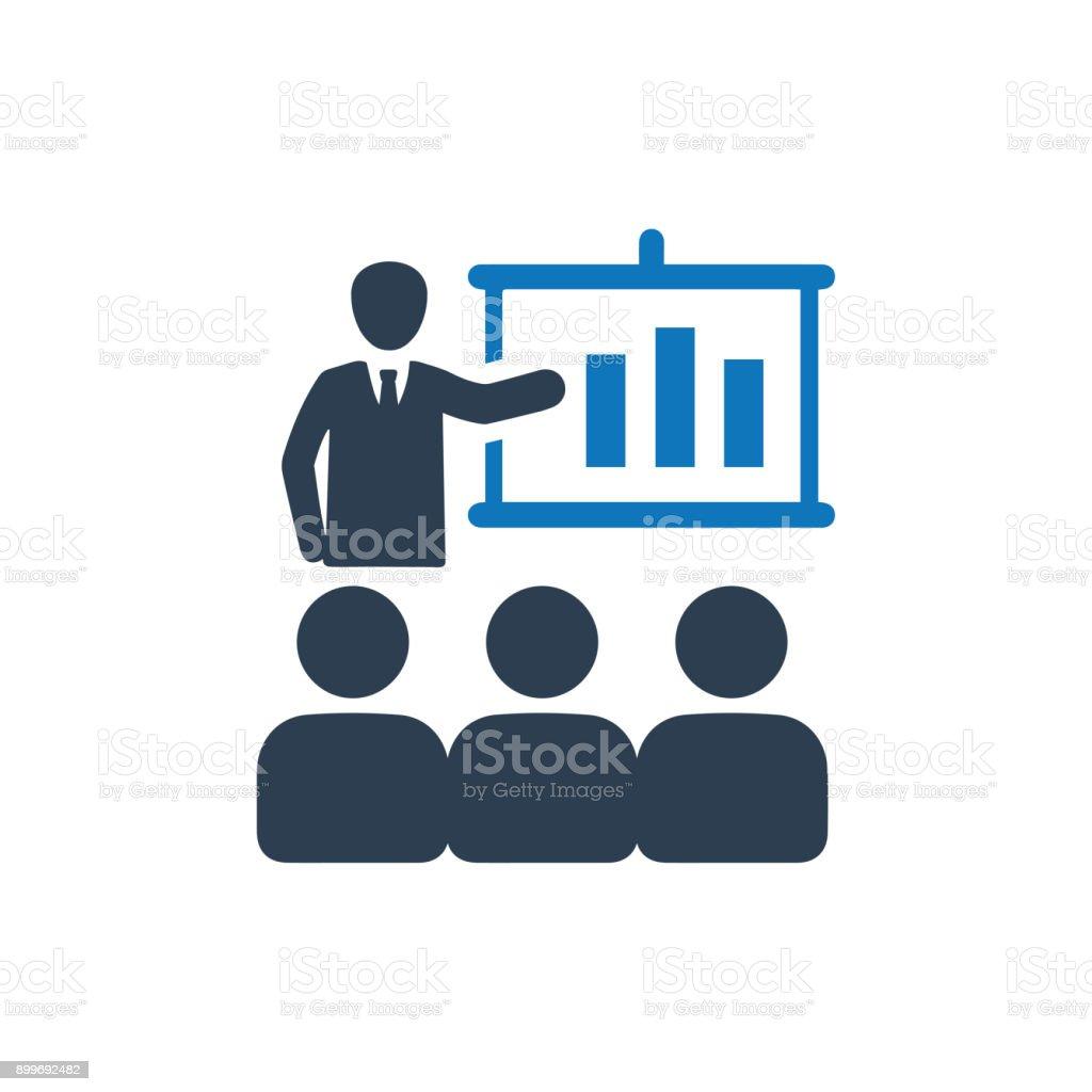 Affaires icône de présentation - Illustration vectorielle