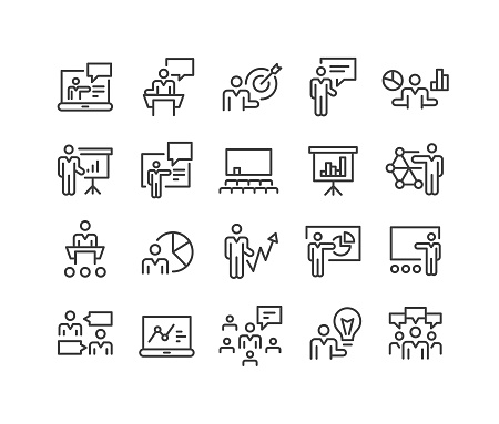 Business Presentation Icons - Classic Line Series