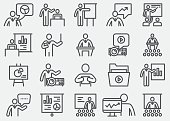Business Presentation Line Icons