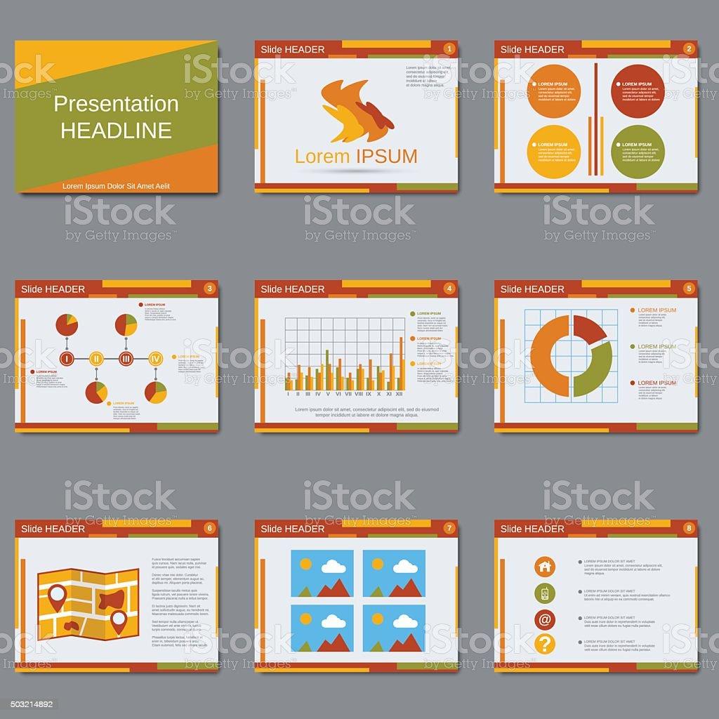 business presentation slide show vector design template stock, Presentation templates