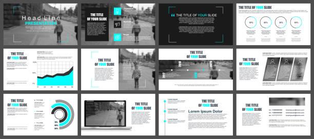 business-präsentation folien vorlagen aus infografik elemente. - zeitschrift grafiken stock-grafiken, -clipart, -cartoons und -symbole