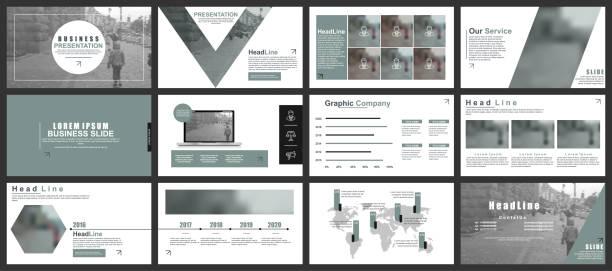 business-präsentation folien vorlagen aus infografik elemente - mappen stock-grafiken, -clipart, -cartoons und -symbole