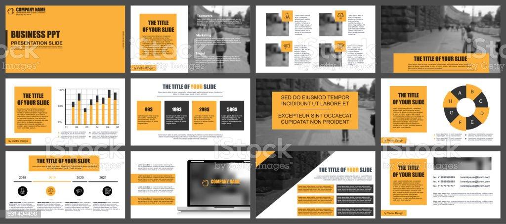 Businesspräsentation Folien Vorlagen Aus Infografik Stock Vektor Art ...