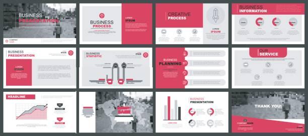 Business-Präsentation Folien Vorlagen – Vektorgrafik