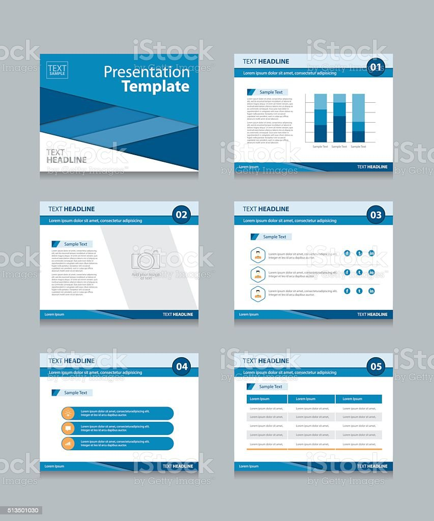 business presentation template backgrounds vector art illustration