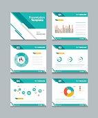 business presentation template set.powerpoint template design backgrounds