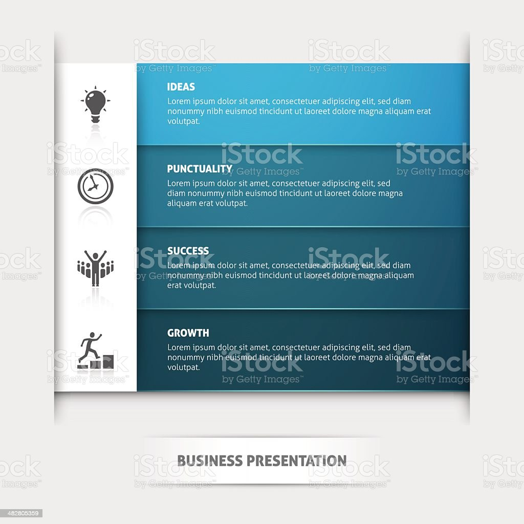 Business Presentation Template royalty-free stock vector art