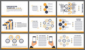 Business presentation templates. Modern elements of infographic. Can be used for business presentations, leaflet, information banner and brochure cover design.