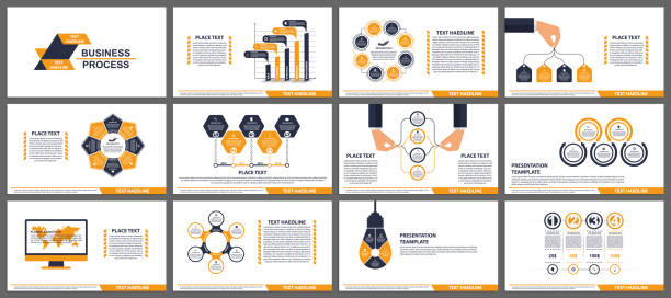 Business presentation templates. Modern elements of infographic. Can be used for business presentations, leaflet, information banner and brochure cover design. vector art illustration