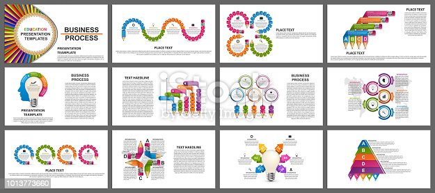 Business presentation templates. Modern elements of infographic. Can be used for business presentations, leaflet, information banner.