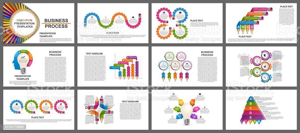 Business presentation templates. Modern elements of infographic. vector art illustration