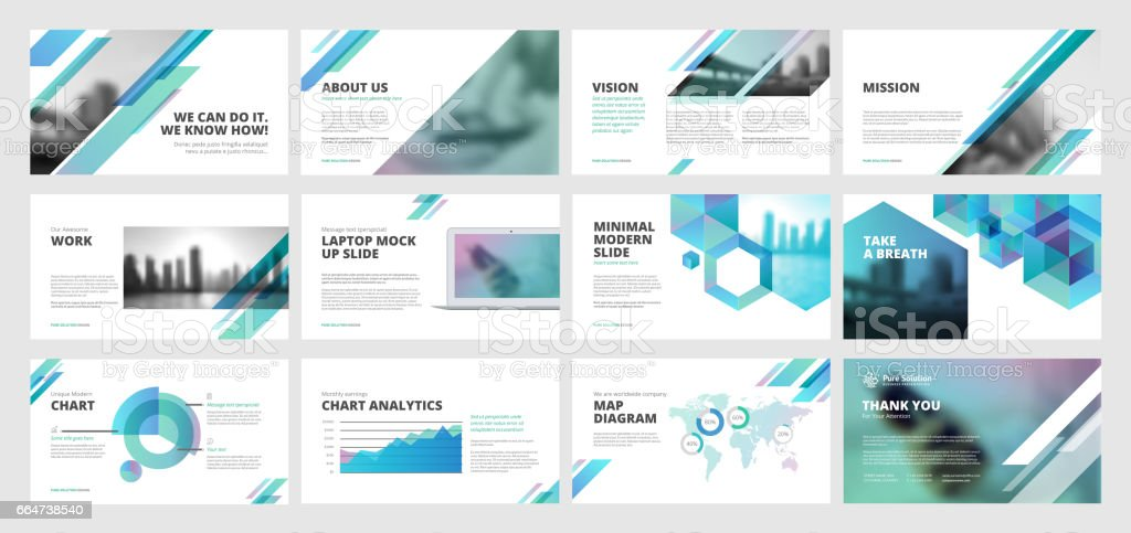 Business presentation templates vector art illustration