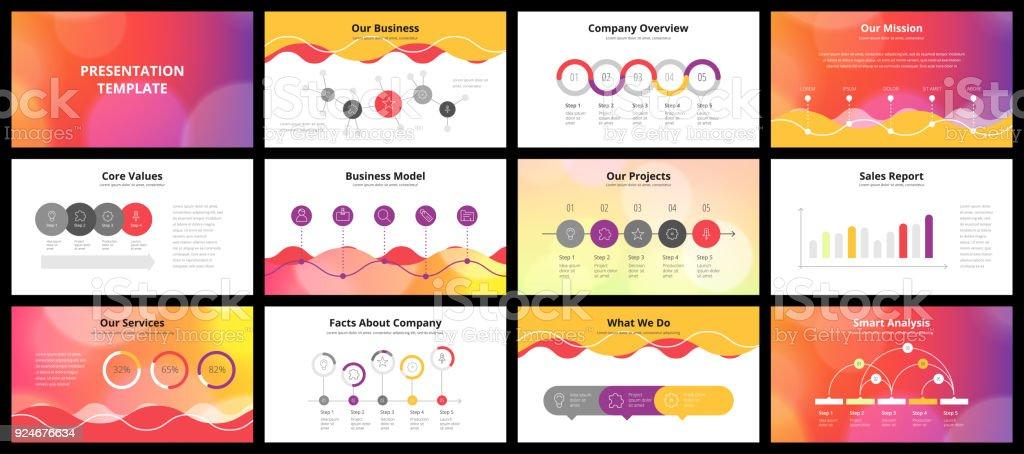 Business presentation templates vector art illustration