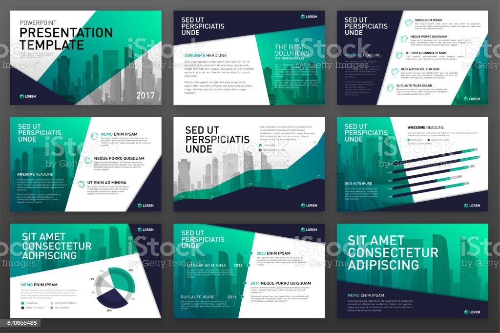 Business presentation templates with infographic elements – artystyczna grafika wektorowa