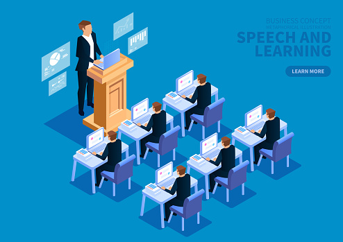 Business presentation training and learning