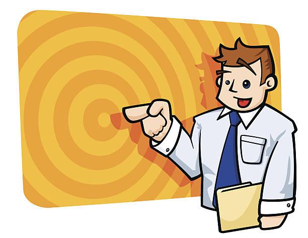 Business Presentation vector art illustration