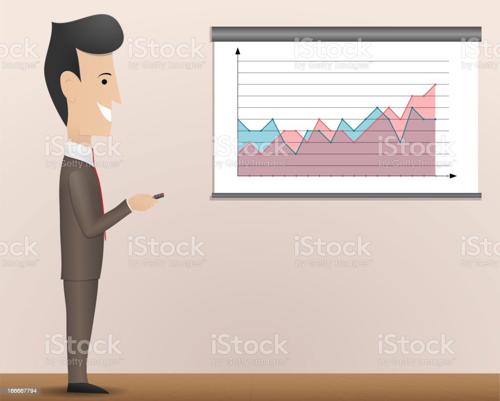 Business presentation royalty-free stock vector art