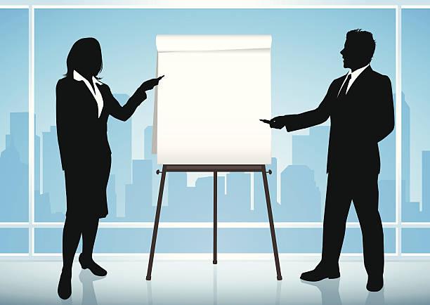 business-präsentation - flipchart stock-grafiken, -clipart, -cartoons und -symbole