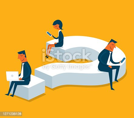 Business people solving business problems stock illustration
