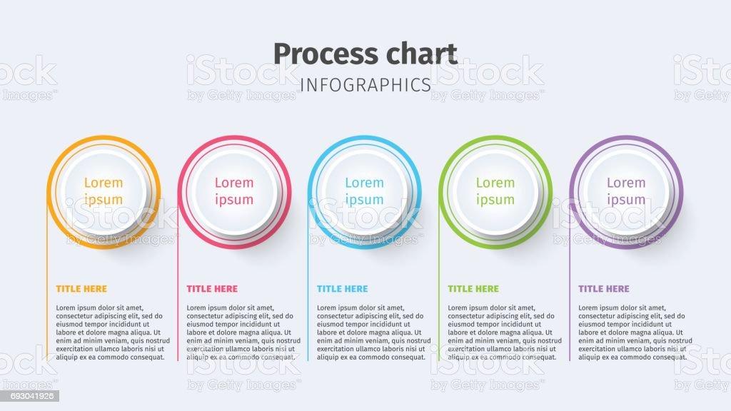 Business Process Chart Infographics With Step Circles Circular ...