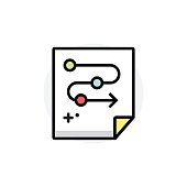 Business process concept Isolated Line Vector Illustration editable Icon