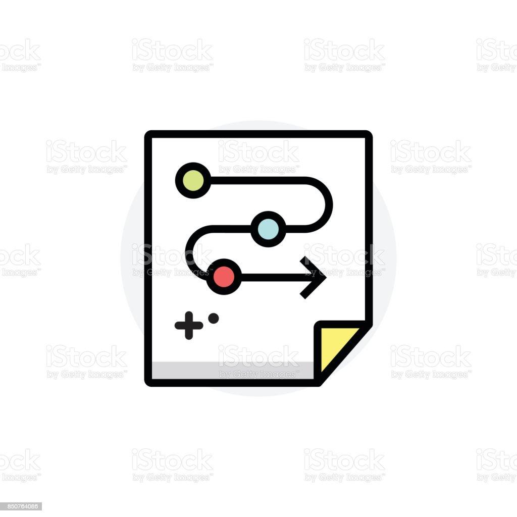 Concept de processus d'affaires isolé ligne Vector Illustration icône modifiable - Illustration vectorielle