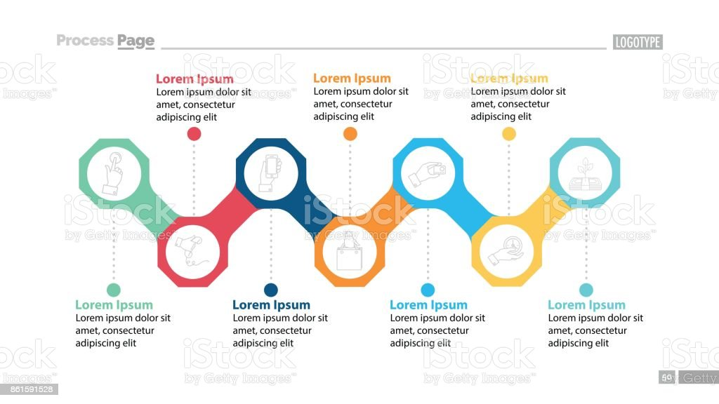 Business Process Elements Slide Template Stock Vector Art & More ...
