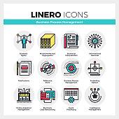 Business Process Management Linero Icons Set