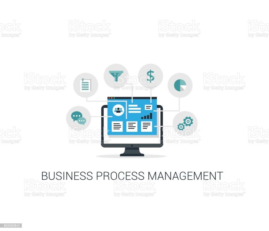 Business Process Management System Vector illustration. vector art illustration