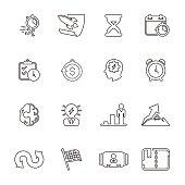 Business productive & efficiency Icon Set | Line Series