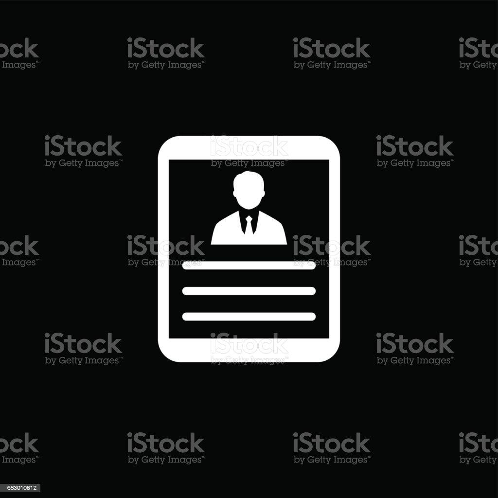 Business Profile. Flat Design business profile flat design - arte vetorial de stock e mais imagens de adulto royalty-free