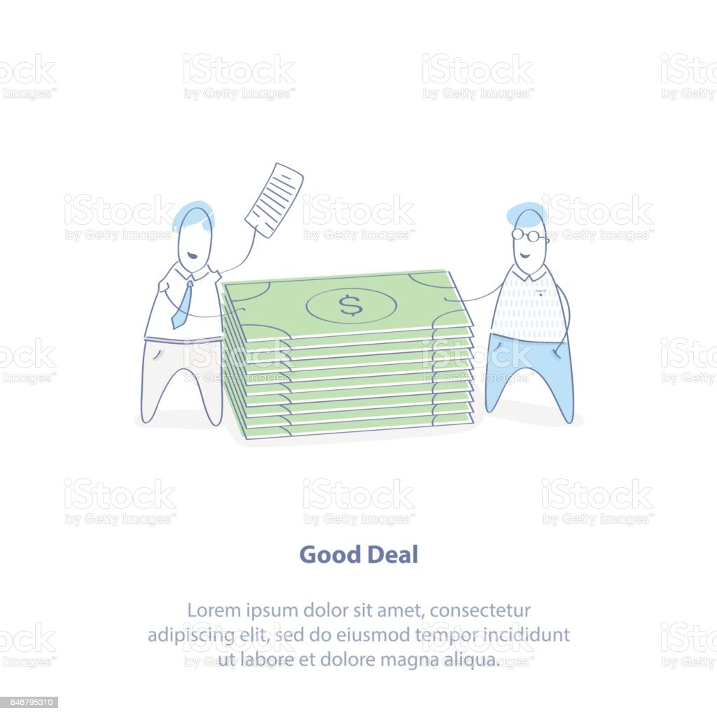 Business Profitable Deal Making Or Partnership Signing Of A