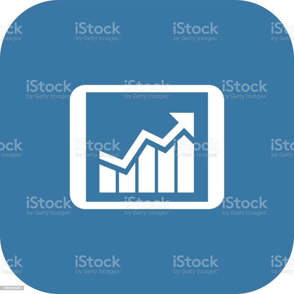 Business Progress Icon. Flat Design. business progress icon flat design - arte vetorial de stock e mais imagens de contabilidade royalty-free