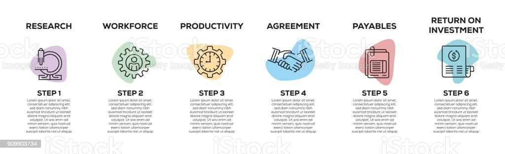 Business Progress Infographic royalty-free business progress infographic stock illustration - download image now