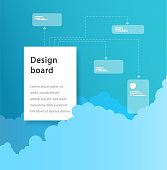 Business promotion ledder or project phase illustration template with each steps.