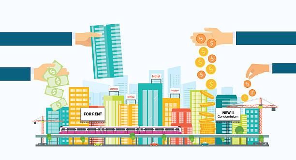 geschäft hotel investitionen .real immobilien investitionen. - oberhaus stock-grafiken, -clipart, -cartoons und -symbole