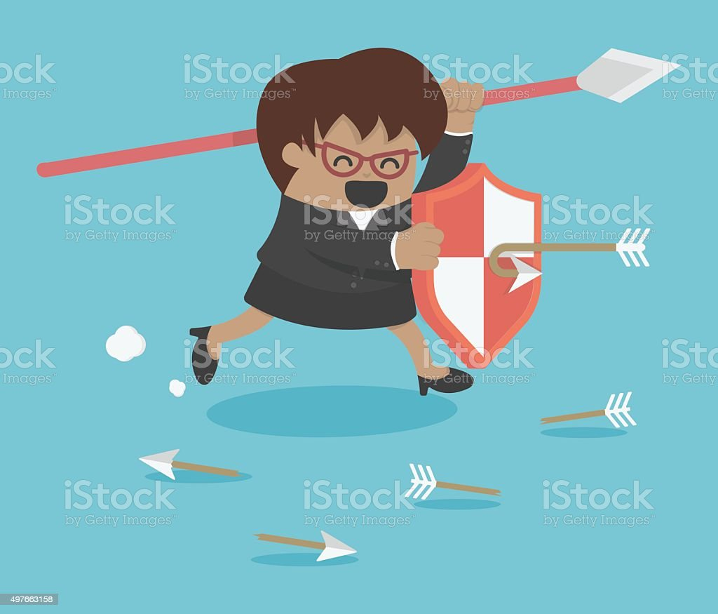 business protection vector art illustration