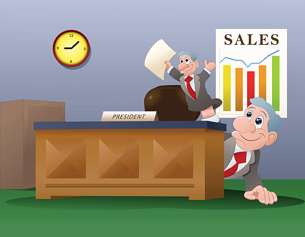 business puppet - old man puppet stock illustrations, clip art, cartoons, & icons