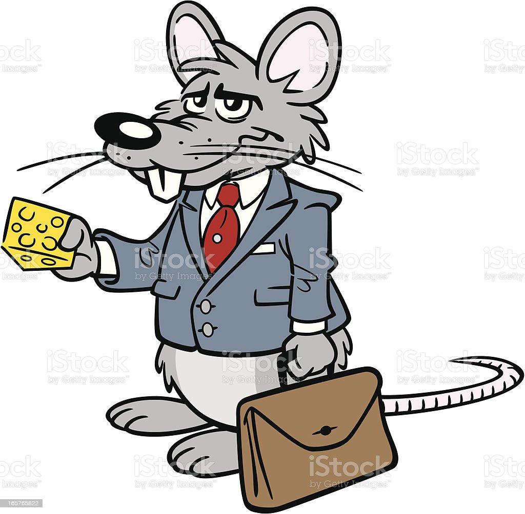 Business Rat Lawyer vector art illustration