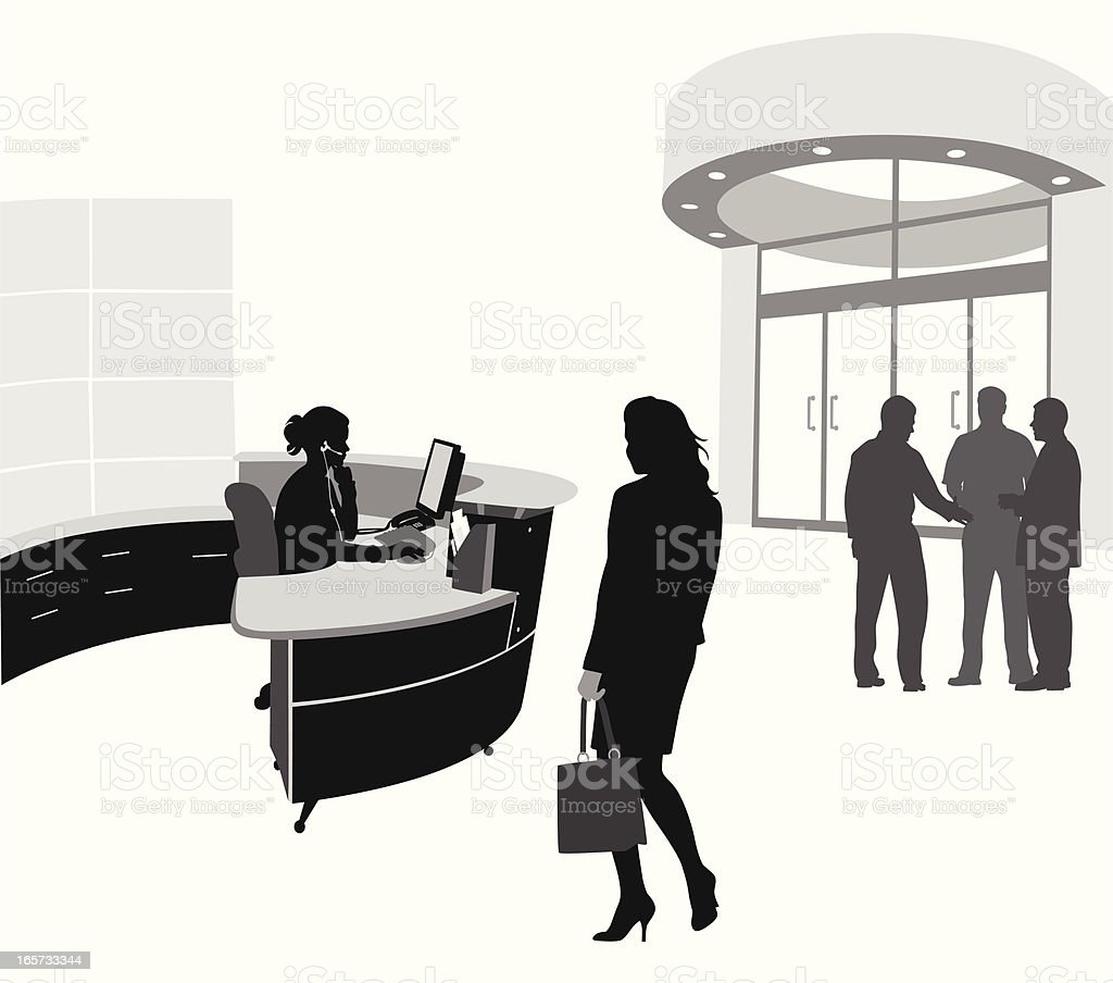 Business Reception Vector Silhouette royalty-free stock vector art